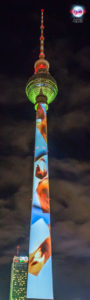 Berliner Fernsehturm - World Championship of Projection Mapping - 2016
