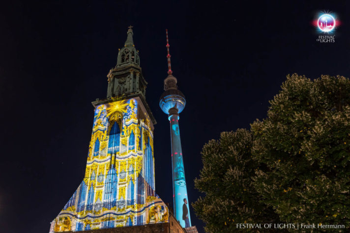 Marienkirche festival of lights