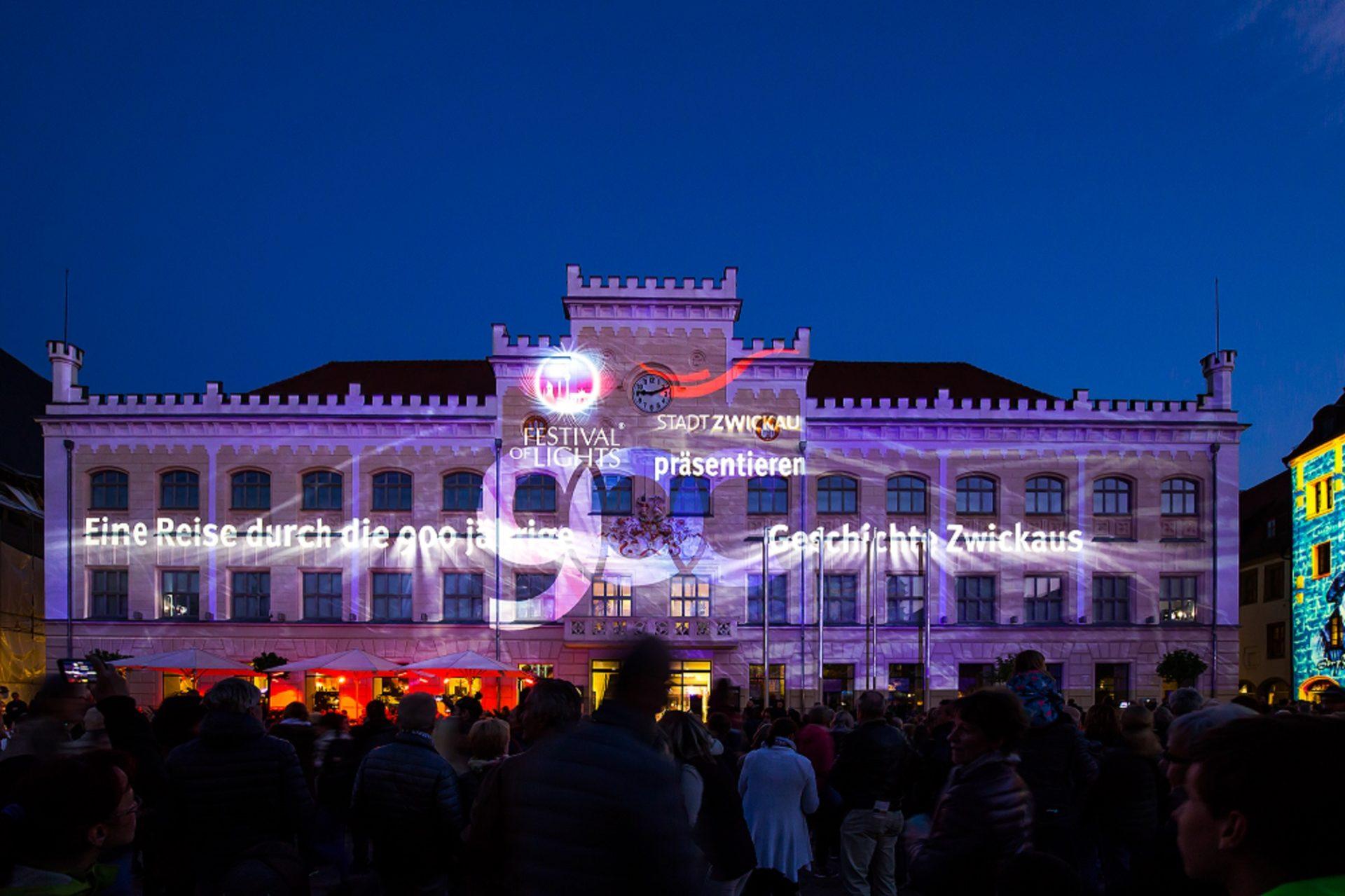 Rathaus Zwickau - Festival of Lights in Zwickau - 2018