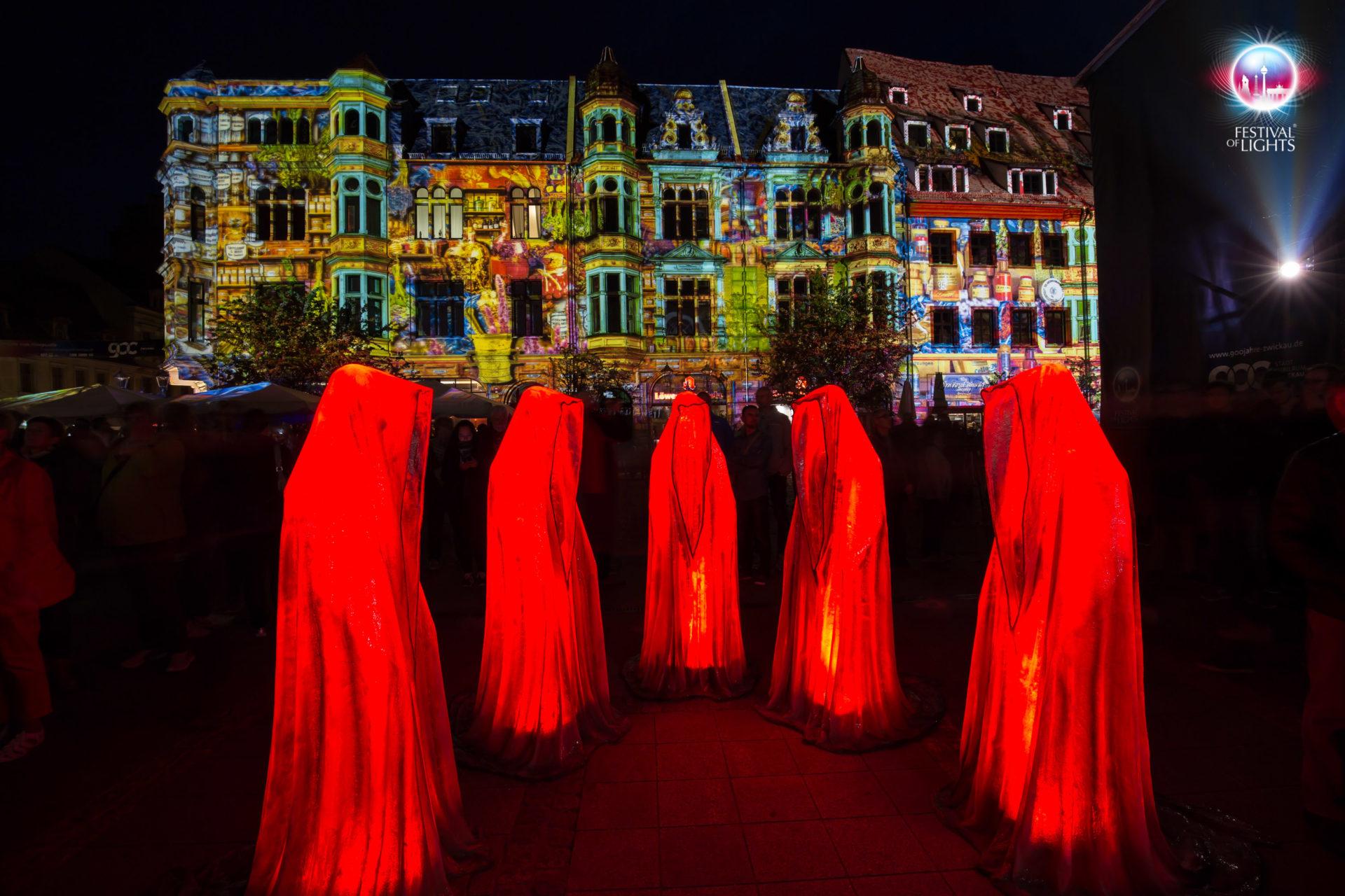 Zwickau Festival of Lights - Wächter der Zeit - 2018
